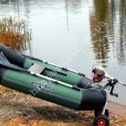 транцевые колеса для гребной лодки на накладном транце технопарус