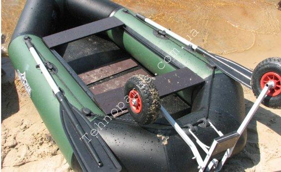 Колёса для лодки с навесным транцем