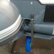 Транцевые колеса Технопарус КТ3НИ на лодке пвх с интерцептором
