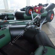 Транцевые колеса на гребную лодку КТ8