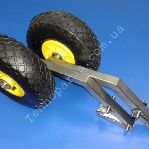 TRIPLE WHEELS FOR BOATS WITH INFLATABLE LOW PRESSURE BOTTOM