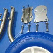 transom wheels elongated, транцевые колеса с усиленными пластинами
