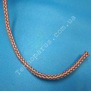 шнур меланжевый вязанный 8мм