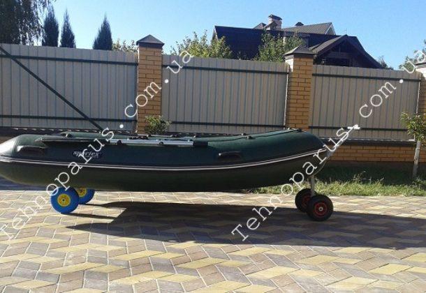 Колеса для лодки ПВХ КТ10Н-ТОП быстросъемные и тележка для лодки ТЛ1