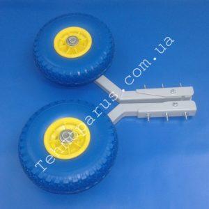 Колеса для лодки КТ2-top. Полимерное покрытие, пенополиуретановые колеса и пластиковые втулки.